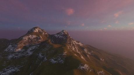High mountain, aerial shot