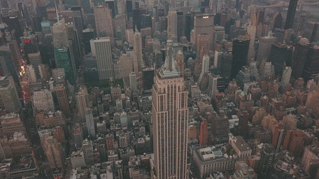 High view of the Empire State Building