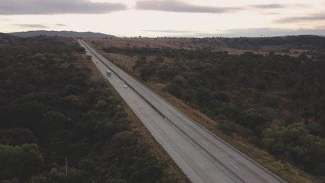 Highway between trees