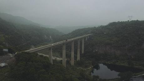 Highway bridge, aerial shot