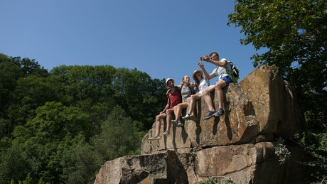 Hikers posing for a photo