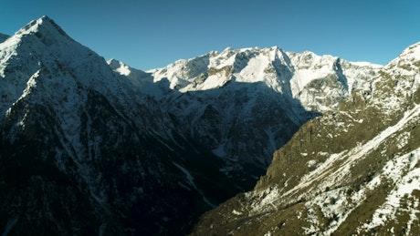Himalayas mountain range with snow
