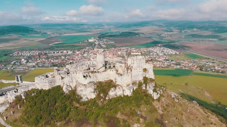 Historic castle in the top of the hill in Slovakia