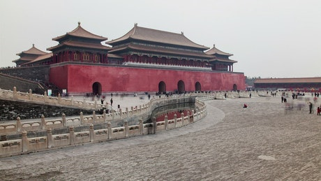 Historic gate building in Beijing
