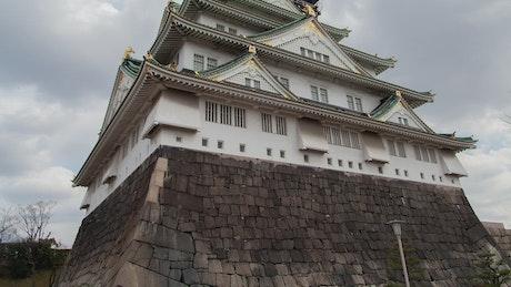 Historic japanese palace in Osaka