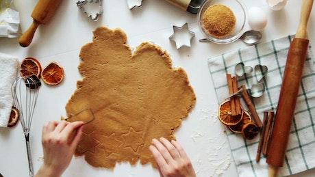 Homemade christmas figure cookies