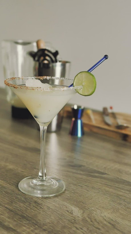 Homemade margarita cocktail