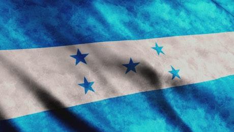 Honduras flag while waving in full screen