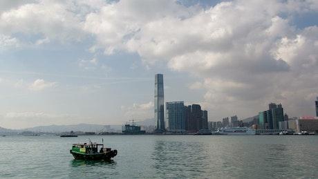 Hong Kong bay time lapse