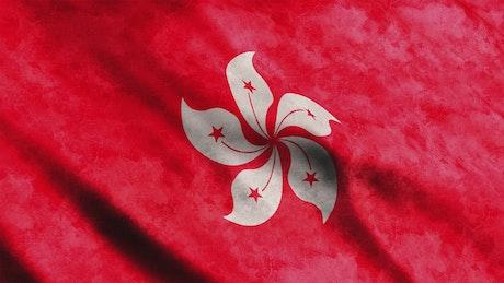 Hong Kong flag waving, 3D animation