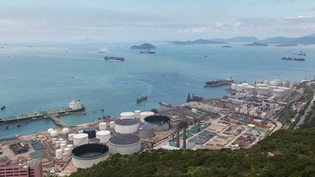 Hong Kong industrial harbor