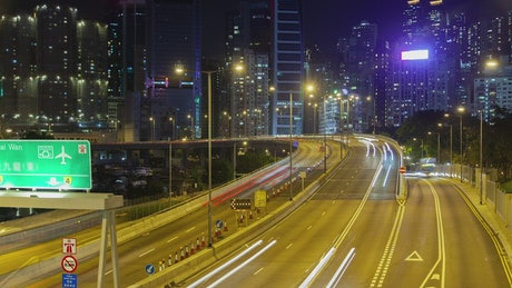 Hong Kong Rd. with cityscape in the background