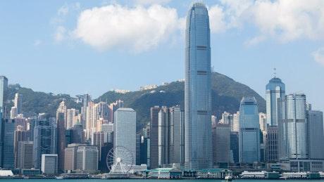 Hong Kong skyline panorama at daytime