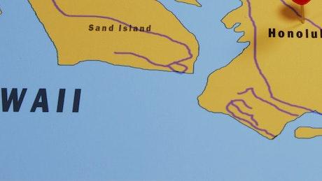 Honolulu on a map