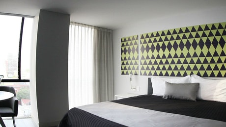 Hotel room with modern minimalist style