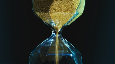 Hourglass with golden sand
