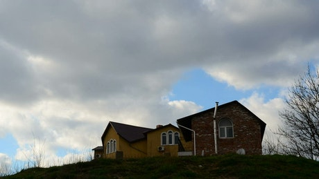 House alone on a hill