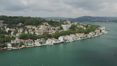 Houses along the Istanbul coast