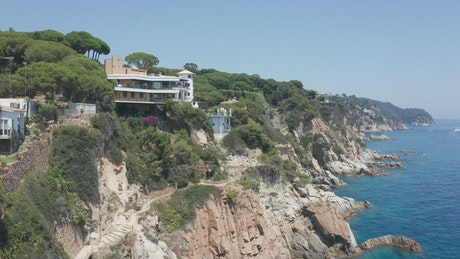 Houses over the cliffs