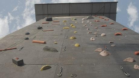 Huge mountaineering practice wall
