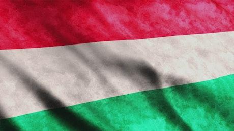 Hungary 3D render flag