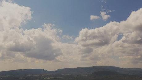 Hyperlapse of a cloudy sky
