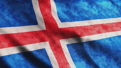 Iceland flag, 3D render