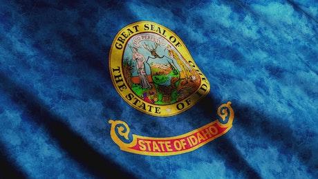 Idaho state flag waving