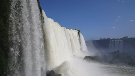 Iguazu falls close up