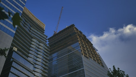 Immense and modern building under construction