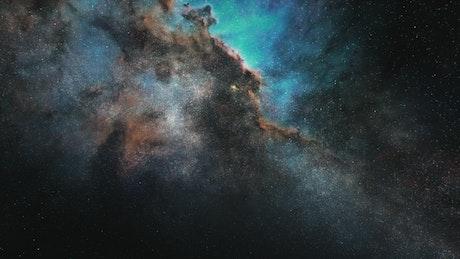 Impressive space nebula