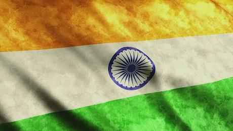 India flag waving, 3D animation