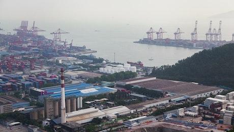 Industrial landscape of trading port in Shenzhen