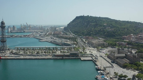 Industrial port in Barcelona