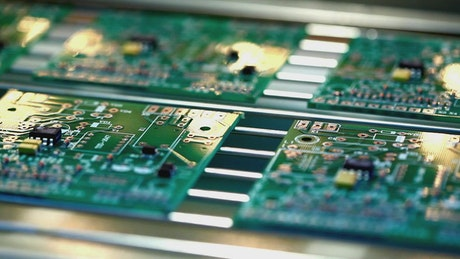 Industrial production of electronic cards