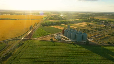 Industrial storage and agricultural fields