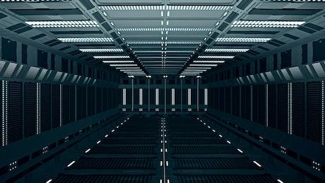 Infinity corridor with futuristic style