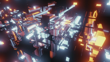 Information blocks virtual world concept