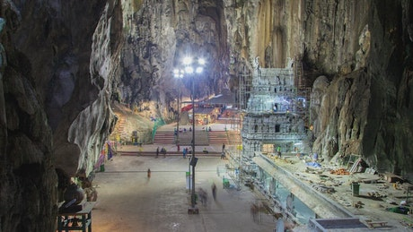 Inside a cave with the temple in Kuala Lumpur