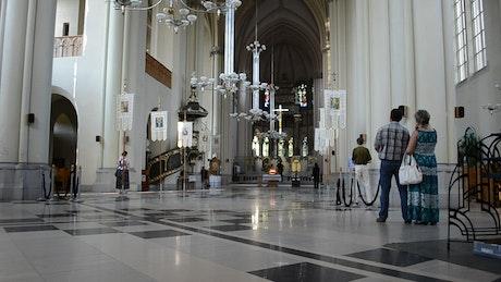 Inside a Church in Lviv