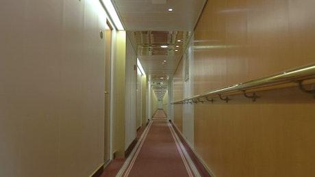 Inside a hotel corridor