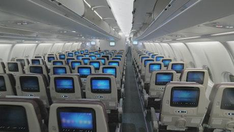 Inside a modern passenger plane