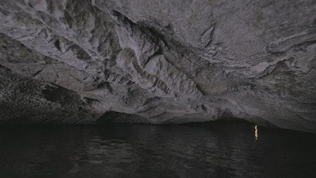 Inside a sea cave