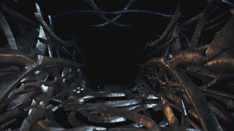 Inside an alien spaceship corridor, loop