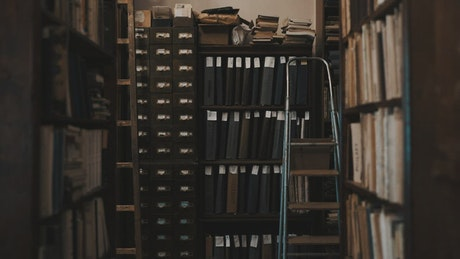 Inside an old library