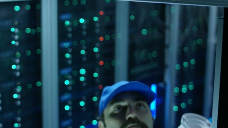 Installing a security camera in data center