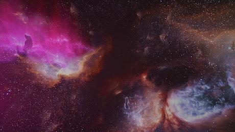 Intergalactic journey through nebulae