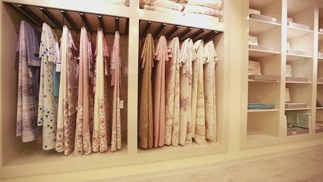 Interior of a large closet very organized