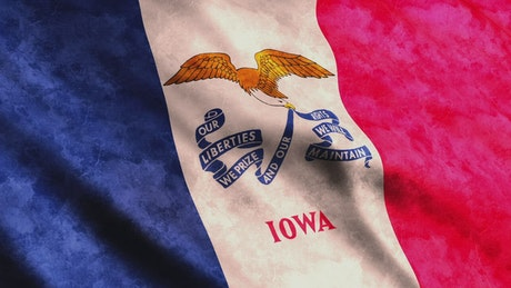 Iowa State flag from USA