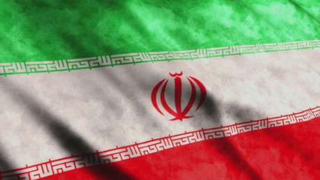Iran flag in motion